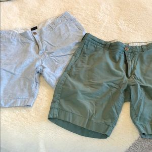 2 pairs of j Crew shorts linen material